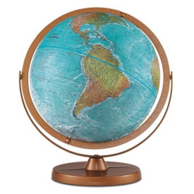 "Atlantis Accurate Color Globe - 12"" Diameter, V21469"