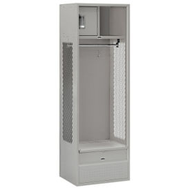 "Unassembled Open Access Locker 24""W x 18""D x 72""H, B30080"