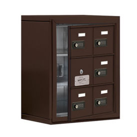 "5 Door Cell Phone Locker with Combo Lock and Access Panel - 17.5""W x 20""H, B34608"