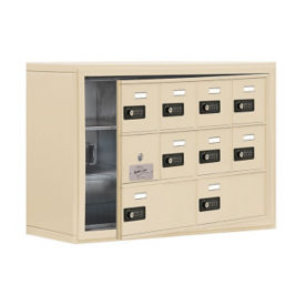 "9 Door Cell Phone Locker with Combo Lock and Access Panel - 30.5""W x 20""H, B34610"