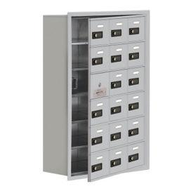 "17 Door Cell Phone Locker with Combo Lock and Access Panel - 24""W x 36.5""H, B34623"