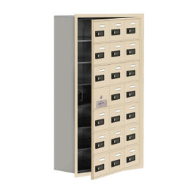 "20 Door Cell Phone Locker with Combo Lock and Access Panel - 24""W x 42""H, B34627"
