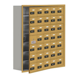 "34 Door Cell Phone Locker with Combo Lock and Access Panel - 37""W x 42""H, B34629"