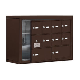 "9 Door Cell Phone Locker with Key Lock and Access Panel - 30.5""W x 20""H, B34632"