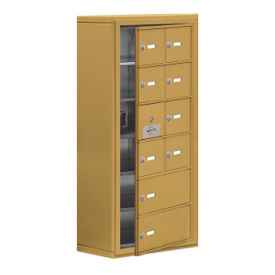 "9 Door Cell Phone Locker with Key Lock and Access Panel - 17.5""W x 36.5""H, B34644"