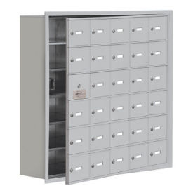"29 Door Cell Phone Locker with Key Lock and Access Panel - 37""W x 36.5""H, B34647"