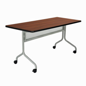 "Mobile Rectangular Training Table 60"" x 24"", T11322"