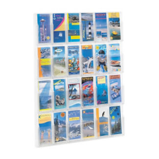 Literature Rack with 24 Brochure Pocket, D33041