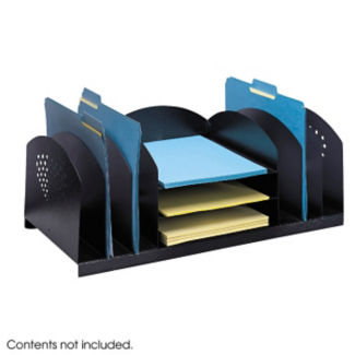 Black Steel Desktop Organizer, B30420