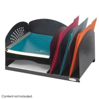 Black Steel Desktop Organizer, B30422