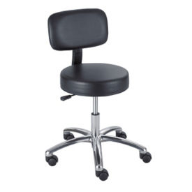 Lab Stool with Back, V21286