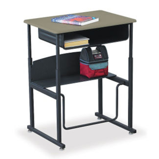 """28""""W AlphaBetter Stand Up Desk with Thermofused Top and Book Box, D35085"""