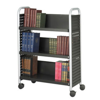 Single Sided Scoot Book Cart, L40740