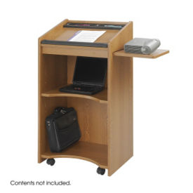 Mobile Lectern with Side Shelf, M13159