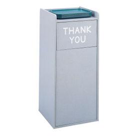 Wood Trash Bin with Tray Top 36 Gallon Capacity, R20196