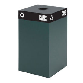 "25 Gallon Steel Recycling Receptacle with Can Top - 26""H, R20258"