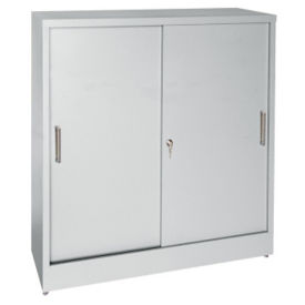 "29""H x 18""D Sliding Door Storage Cabinet, B32142"