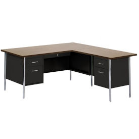 Steel L-Desk with Right Return, D30213