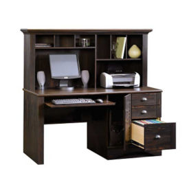 Harbor View Antique Computer Desk with Hutch, D30155