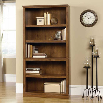 Oiled Oak Finish Five Shelf Bookcase B30437 And More Products