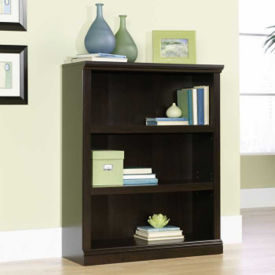 Jamocha Wood Finish Three Shelf Bookcase, B30441