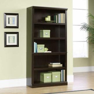 Jamocha Wood Finish Five Shelf Bookcase, B30438