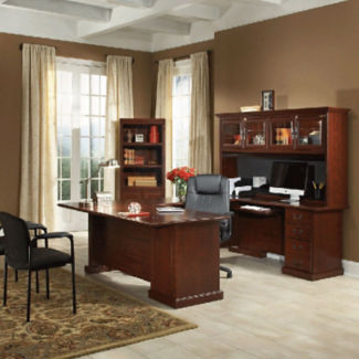 U-Desk and Bookcase Set, D35645