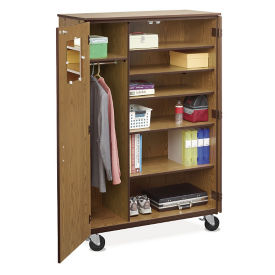 Mobile Teachers Wardrobe Cabinet , B30624