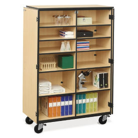 Mobile Split Shelf Storage Cabinet, B30626