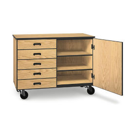 "Five Drawer Mobile Storage Cabinet - 36""H, B30628"