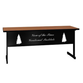 "Training Table with Laser Engraved Modesty Panel - 24"" x 72"", T11493"
