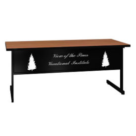 """Training Table with Laser Engraved Modesty Panel - 30"""" x 72"""", T11496"""