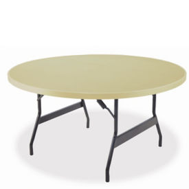 "Aluminum Folding Table with Wishbone Legs 48"" Diameter, T10823"