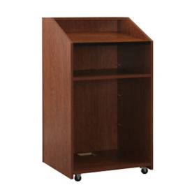 "Floor Lectern With Shelf - 48""H, M10388"