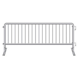 "Flat Foot Steel Barricade 102""W , V21643"