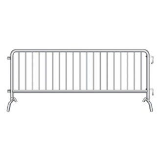 "Bridge Foot Steel Barricade 102""W , V21645"