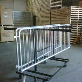 Steel Barricade Transport Cart, V21647