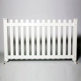 "Picket Style Plastic Fence Panel 32""H , V21649"