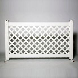 "Lattice Style Plastic Fence Panel 42""H , V21654"
