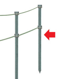 "Fence Post for Rope or Poly Mesh Barrier 48""H , V21656"