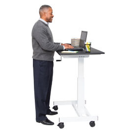 "Manual Height Adjustable Mobile Compact Desk - 40""W, D30268"