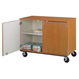 "Heavy-Duty Mobile Teacher Storage Cabinet - 36""H, B30252"