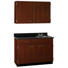 "Cabinet with Right Hand Sink and Wall Cabinet - 60""w, B32198"