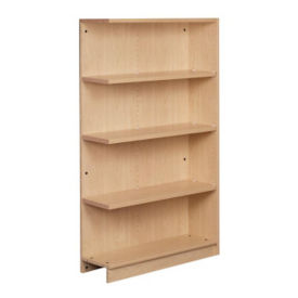 "Single Faced Shelving Adder, 4 Shelves, 61"" H, B34313"