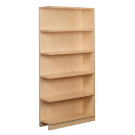 "Single Faced Shelving Adder, 5 Shelves, 74"" H, B34315"