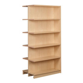"Double Faced Shelving Adder, 5 Shelves, 74""H, B34336"