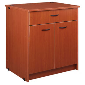 "Circulation Desk Module with Locking Drawer and Cabinet 40""H, B34356"