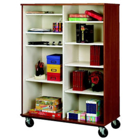 "Divided Ten Shelf Mobile Storage Cabinet - 67""H, B34596"