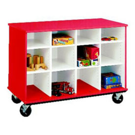 "Twelve Compartment Mobile Storage Cabinet - 36""H, B34598"