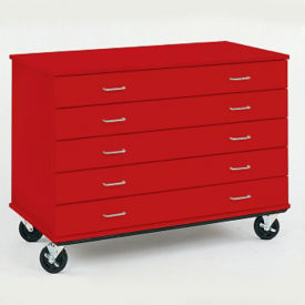 "Lockable Five Drawer Mobile Storage Unit - 36""H, B34602"